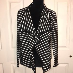 Sunny Leigh Black and White striped cardigan